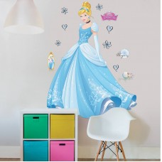 Disney Princess Cinderella Room Stickers Self-adhesive!