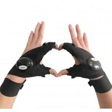 Cool Fingerless LED Flashlight Gloves