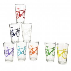 Bicycle Tumblers Glass