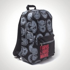 MARVEL BACKPACK IN GREY ALL-OVER PRINT