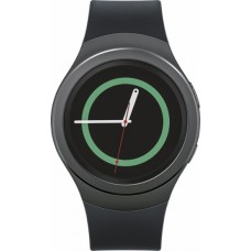 Samsung - Gear S2 Smartwatch 42mm Stainless Steel - Black Elastomer