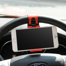 BLACK RED STEERING WHEEL CAR MOUNT HOLDER