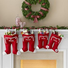 Knit Long John Christmas Stocking