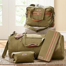 Men's Canvas and Leather Luggage Collection