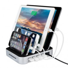 Universal Desktop Quad Charger [6.8A] 4 Port Charging Dock - Perfect for Tablets and Phones