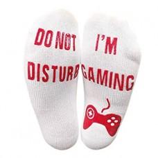 Men Letter Print Funny Socks
