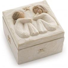 Friendship, sculpted hand-painted keepsake box.