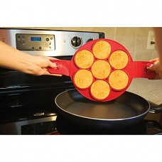 Flippin' Fantastic™ Nonstick Pancake Ring in Red