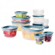 Rubbermaid Flex & Seal 26-Piece Food Storage Set with Easy Find Lids in Blue