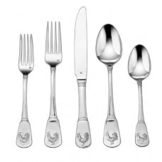 French Rooster Stainless Steel Flatware Set
