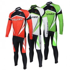 ARSUXEO Men Sports Cycling Clothes Bike Bicycle Suits Jersey Long Sleeve Clothing